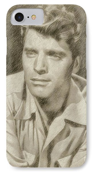 Burt Lancaster Hollywood Actor IPhone Case by Frank Falcon
