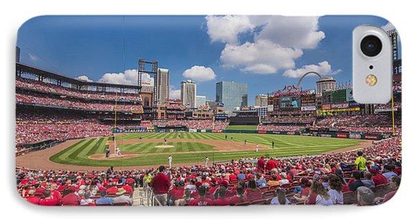 Busch Stadium St. Louis Cardinals Cardinal Nation Ballpark Village Day #2a IPhone Case