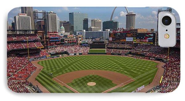 Busch Stadium T. Louis Cardinals Ball Park Village National Anthem #3a IPhone Case by David Haskett
