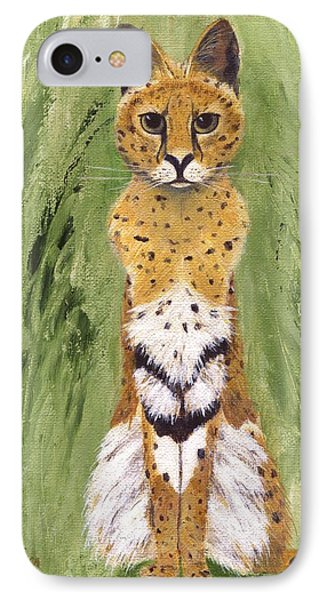 IPhone Case featuring the painting Bush Cat by Jamie Frier