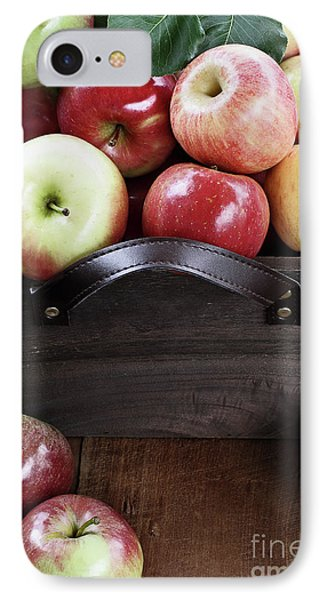 IPhone Case featuring the photograph Bushel Of Apples  by Stephanie Frey