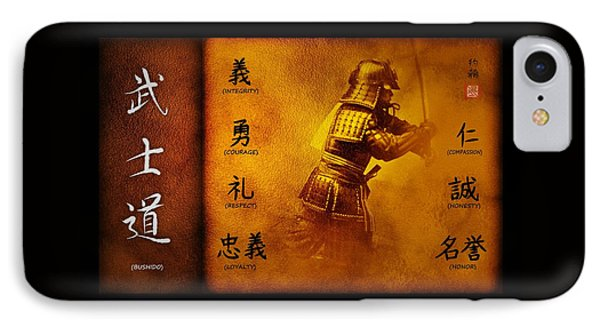 Bushido Way Of The Warrior IPhone Case by John Wills