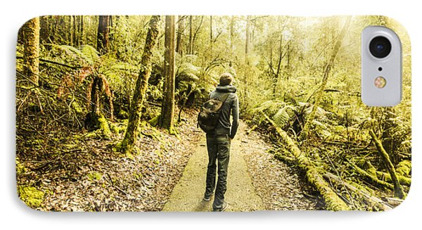 IPhone Case featuring the photograph Bushwalking Tasmania by Jorgo Photography - Wall Art Gallery