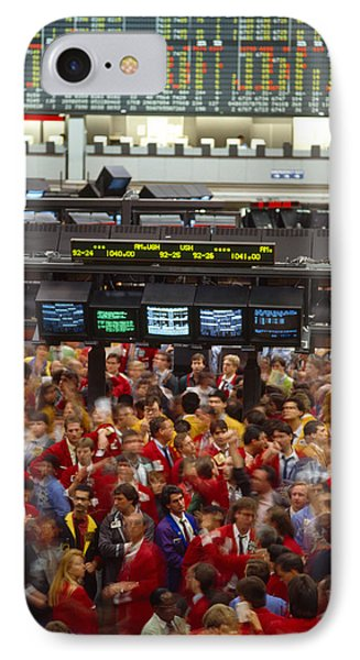 Business Executives On Trading Floor IPhone Case by Panoramic Images