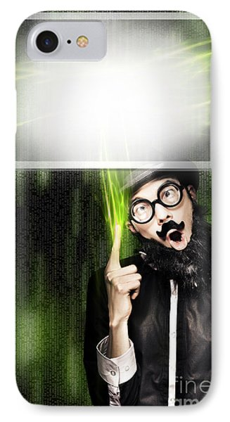 Business Person Advertising On Digital Billboard IPhone Case by Jorgo Photography - Wall Art Gallery