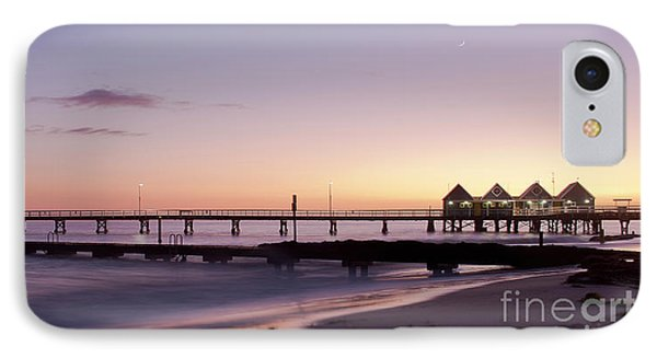 IPhone Case featuring the photograph Busselton Jetty Sunrise by Ivy Ho