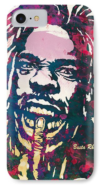 Busta Rhymes Pop Art Poster IPhone Case by Kim Wang