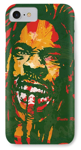 Busta Rhymes Pop Stylised Art Poster IPhone Case by Kim Wang