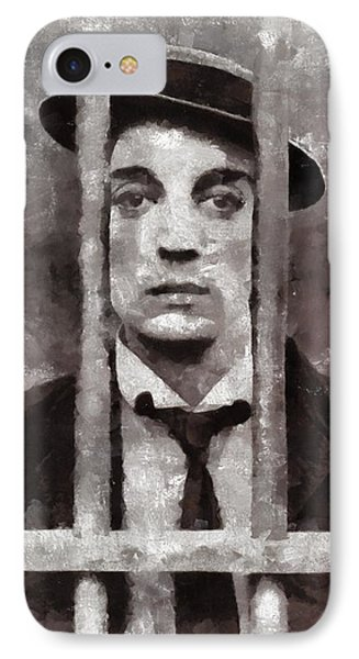 Buster Keaton, Actor IPhone Case by Mary Bassett