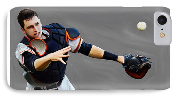 Buster Posey IPhone Case by Jeff DOttavio