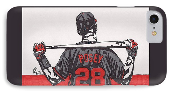 Buster Posey IPhone Case by Jeremiah Colley