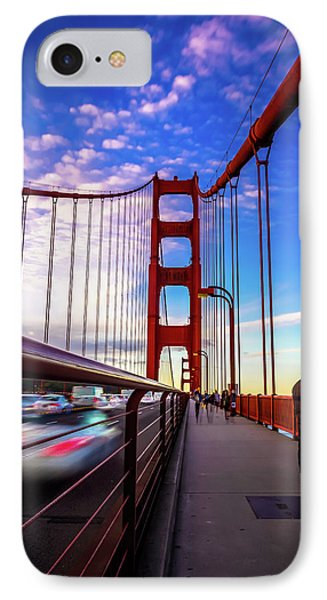 Busy Bay Bridge IPhone Case by Phil Fitzgerald
