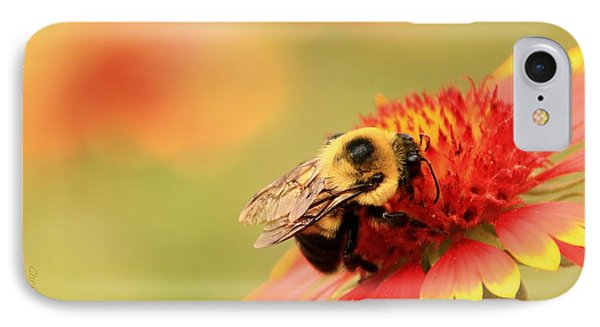 IPhone Case featuring the photograph Busy Bumblebee by Chris Berry
