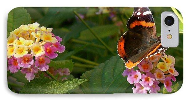Busy Butterfly Side 1 IPhone Case by Felipe Adan Lerma