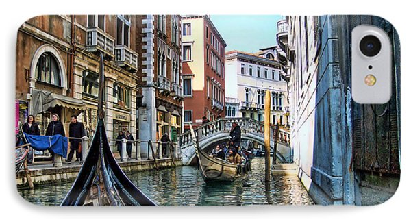 IPhone Case featuring the photograph Busy Canal by Roberta Byram