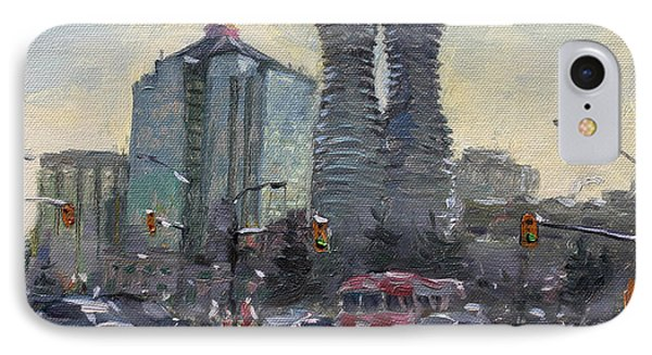 Busy Morning In Downtown Mississauga IPhone Case by Ylli Haruni