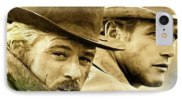 Butch Cassidy And The Sundance Kid     IPhone Case by Thomas Pollart