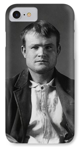 Butch Cassidy Mugshot 1894 IPhone Case by War Is Hell Store