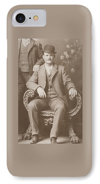 Butch Cassidy - Outlaw Portrait IPhone Case by War Is Hell Store