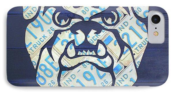 Butler University Indiana Bulldogs Mascot License Plate Art Logo IPhone Case