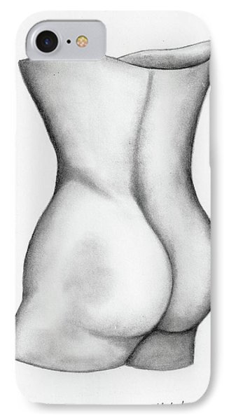 IPhone Case featuring the drawing Butt Of A Study by John Stuart Webbstock