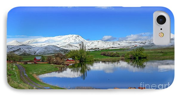 IPhone Case featuring the photograph Butte Farm After Spring Snow by Robert Bales