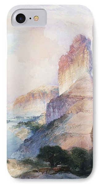 Butte Green River Wyoming Phone Case by Thomas Moran