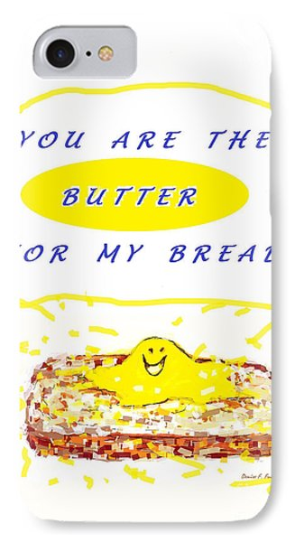 IPhone Case featuring the drawing Butter For My Bread by Denise Fulmer