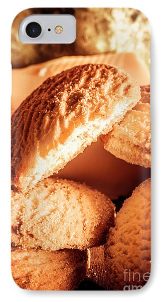 Butter Shortbread Biscuits IPhone Case by Jorgo Photography - Wall Art Gallery