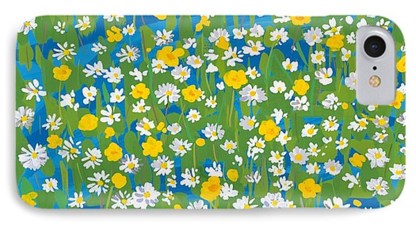 Buttercups And Daisies IPhone Case by Sarah Gillard