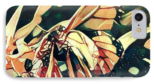 IPhone Case featuring the digital art Butterfies In Love Abstract by David Mckinney