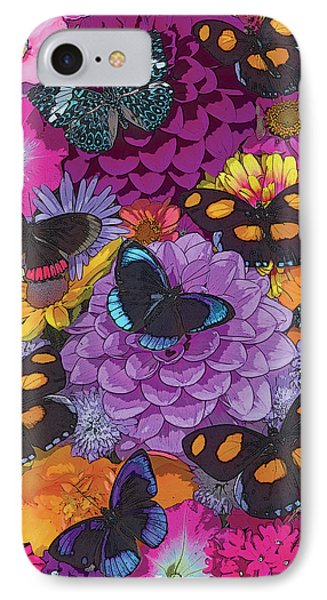 Butterflies And Flowers 2 IPhone Case by JQ Licensing