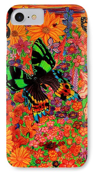 Butterflies And Flowers Phone Case by Nick Gustafson
