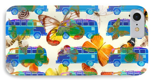 Butterflies And Surfer Vans IPhone Case by Edward Fielding