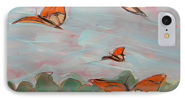 Butterflies Flying 1 IPhone Case