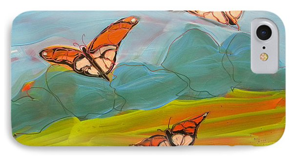 Butterflies Flying 2 IPhone Case