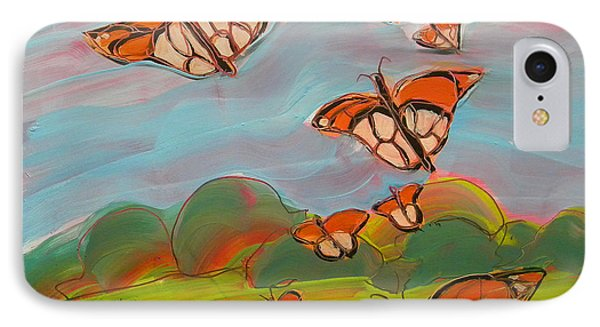 Butterflies Flying 3 IPhone Case