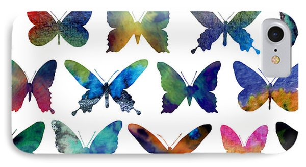 Butterflies IPhone Case by Varpu Kronholm