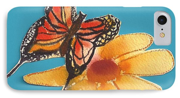 IPhone Case featuring the painting Butterflower by Denise Fulmer