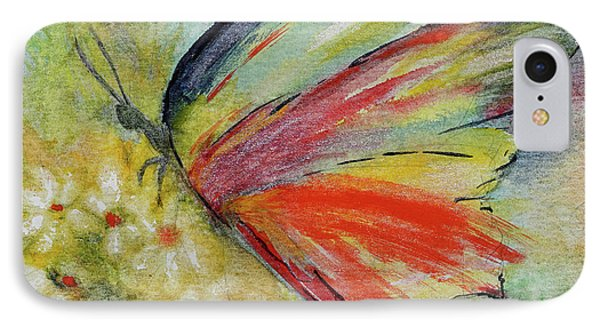 IPhone Case featuring the painting Butterfly 3 by Karen Fleschler