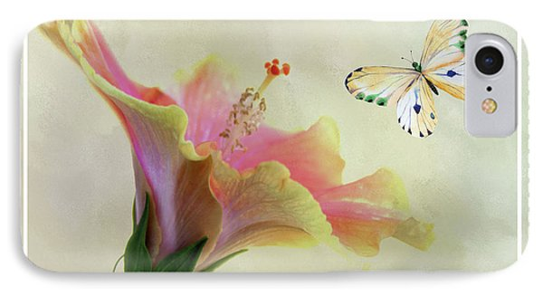 Butterfly And Fiesta Hibiscus IPhone Case