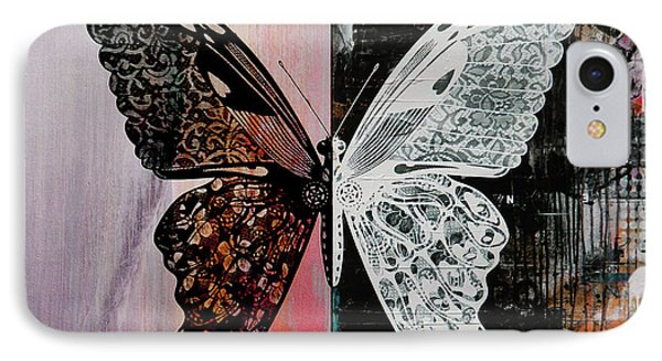 Butterfly Art 45h IPhone Case by Gull G