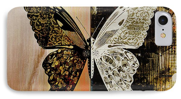 Butterfly Art 78y IPhone Case by Gull G