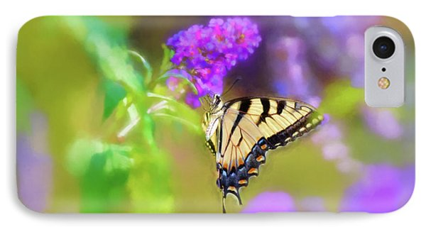 IPhone Case featuring the photograph Butterfly Art - Eastern Tiger Swallowtail by Kerri Farley