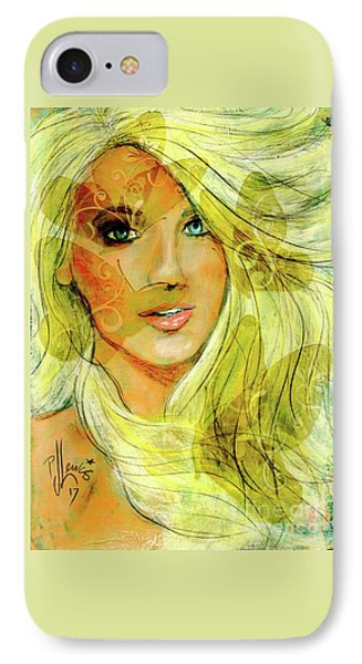 IPhone Case featuring the painting Butterfly Blonde by P J Lewis