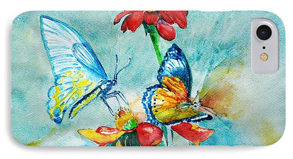IPhone Case featuring the painting Butterfly Dance by Jasna Dragun