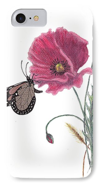Butterfly Dreaming IPhone Case by Stanza Widen