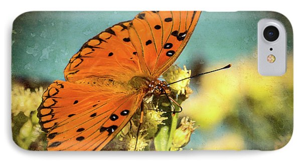 Butterfly Enjoying The Nectar IPhone Case