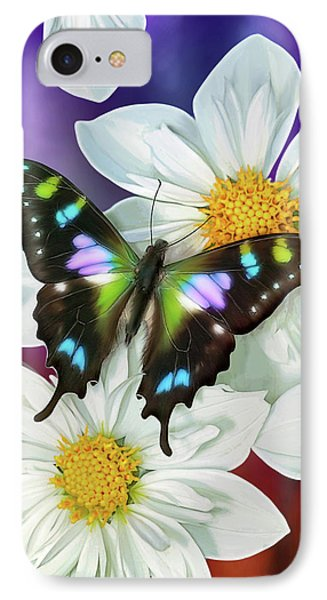 Butterfly Flowers IPhone Case by JQ Licensing
