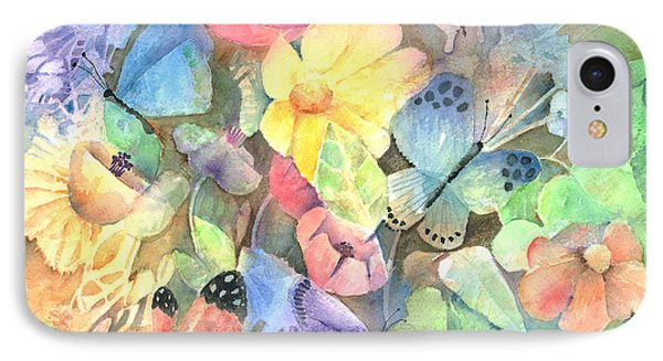 Butterfly Garden IPhone Case by Arline Wagner